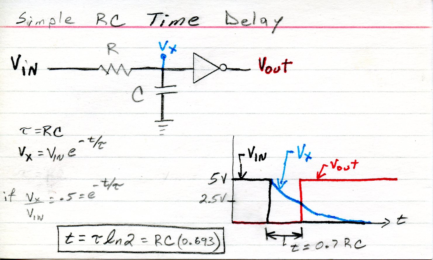 Rc Time Delay Circuit Diagram And Schematics Timer